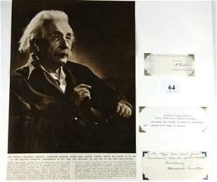 Albert EINSTEIN - Physicist. Black ink signed type