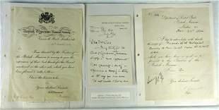 8 Autographs British Museum Scientists Inc. Sydney