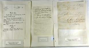 6 Autographs - European 19th C Scientists Inc. Baro