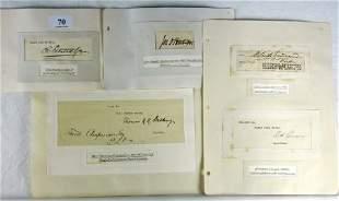 6 Autographs - Scientists Inc. J Dalton Hooker etc