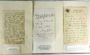 17 Signed Letters - Eminent 19th C Geologists. Sir