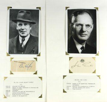 John CURTIN & Ben CHIFLEY - Australian Prime Minist