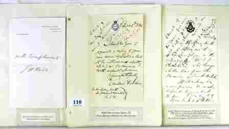 110: Autographs - Australian Prime Ministers - BARTON,