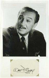 328: Cartoon Creator Walt DISNEY Autograph. Bold Studio