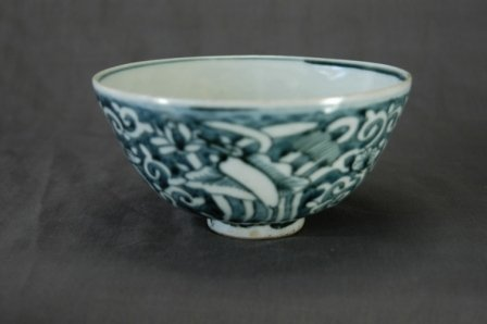 1016: Chinese Ming Blue & White Bowl. c.16th C.  H 7.5c