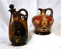 1357  2 Various Royal Doulton Dewars Whisky Flasks Ki