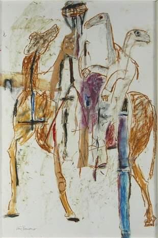 THOMPSON, Ann (b.1933) 'Desert Journey,' c.1988. Au