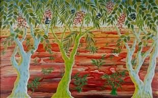 BASTIN, Henri (1896-1979) Landscape with Gum Trees