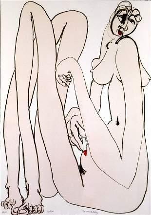 WHITELEY, Brett (1939-1992) 'Lipstick' Lithograph