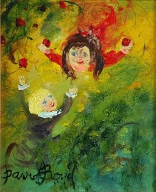 BOYD, David (b.1924) Children in the Orchard Oil