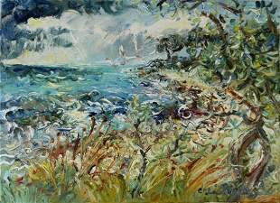 PERCEVAL, Celia (b.1949) 'Stormy Weather' Oil on