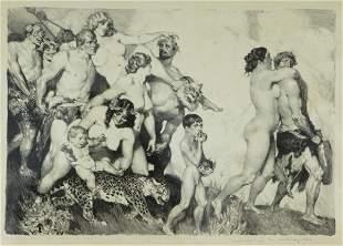 LINDSAY, Norman (1879-1969) 'The Procession,' circ