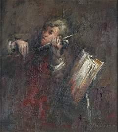208: AUDETTE, Yvonne (b.1930)  Study of a Violinist, Ne