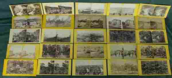 155: 25 Stereoscope Images. Views of early Australian l