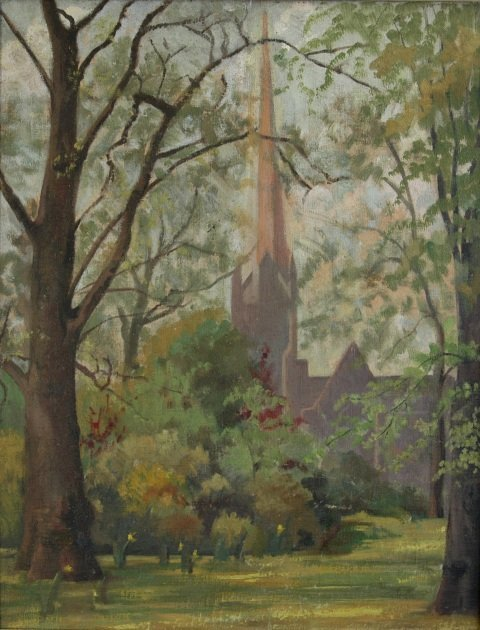 1018: KILGOUR, Nancy May (1904-1954) 'An English Park'