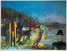 1027: NOLAN, Sid (1917-1992) 'Mrs Reardon at Glenrowan'