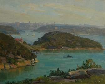 1039: LANGKER, Erik (1898-1982) Balls Head, Sydney Harb