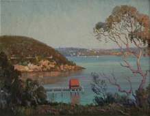 1043: LANGKER, Erik (1898-1982) Jetty, Sydney Harbour.