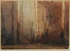 1171: GARRETT, Tom (1879-1952) 'Sanctuary' Monotype 21x
