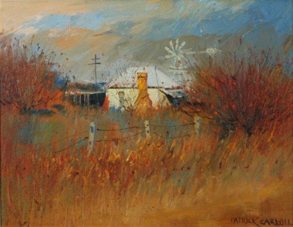 1003: CARROLL, Patrick (b.1949) 'An Autumn Evening, Wat