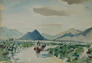 LINDSAY, Daryl (1890-1976) 'A Country Road.' Insc