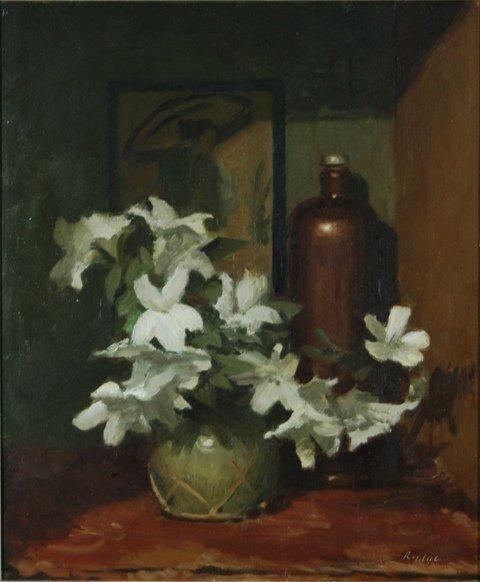 1008: RYDGE, Albert (1903-1971) 'Azaleas' Oil on Board