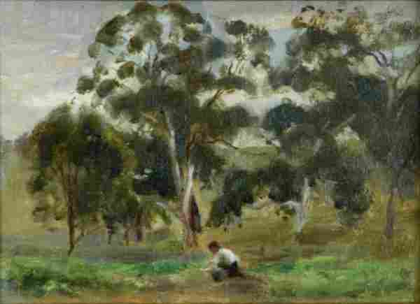 WITHERS, Marjery (1894-1966) Man Working in an Au
