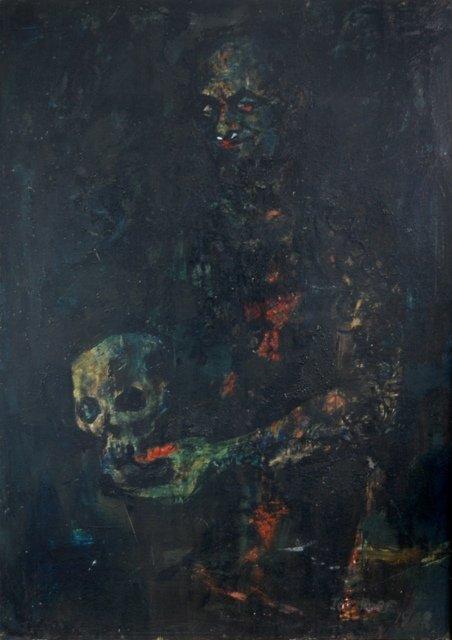 1012: ROSE, Joe (b.1915) 'Self Portrait' Oil on Board 1