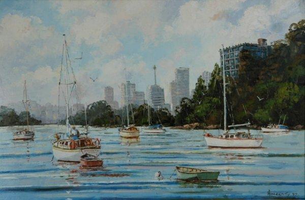 1015: HINGERTY, John (b. 1930) 'Careening Cove, Sydney'