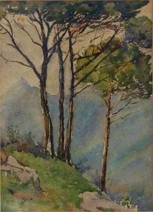 TURNER, E J Mountain View, 1909. W/Clr 27x19cm