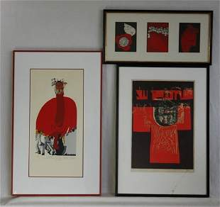 3 Various Japanese Artist's Editions 'Kimono' s/p