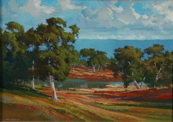 1023: STRATTON, Brian (b.1936) 'Northern Waterway,' 187