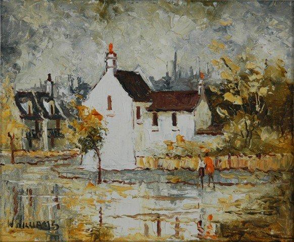 1024: WILLIAMS, Wilmotte (1916-1992) 'Glebe House' Oil