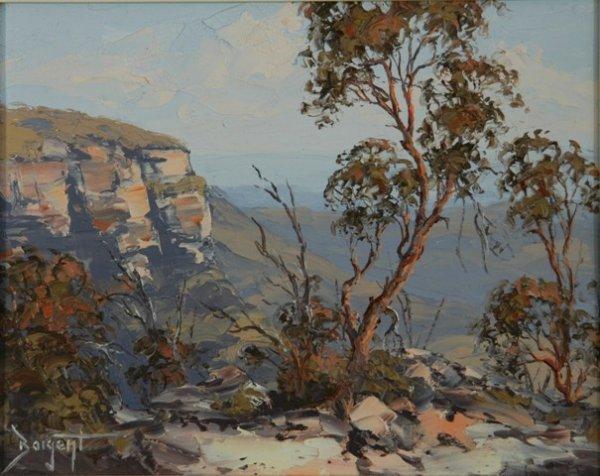 1137: BAIGENT, Brian 'Escarpment, Megalong Valley' Oil