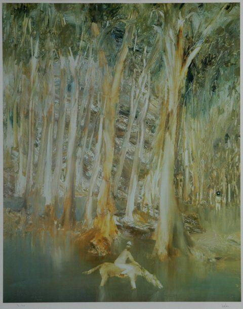 NOLAN, Sid (1917-1992) Riverbend Series Lithograph 9