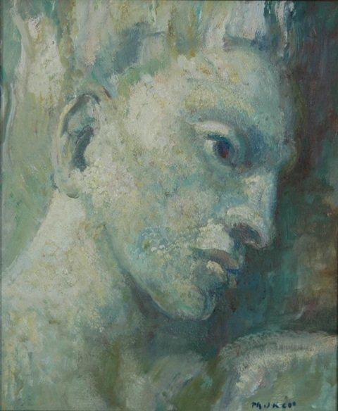 9: MURCH, Arthur (1902-1989) Icarus Oil on Board 40.5x3