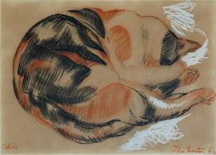 15: PROCTOR, Thea (1879-1966) 'Calico,' 1964. Charcoal