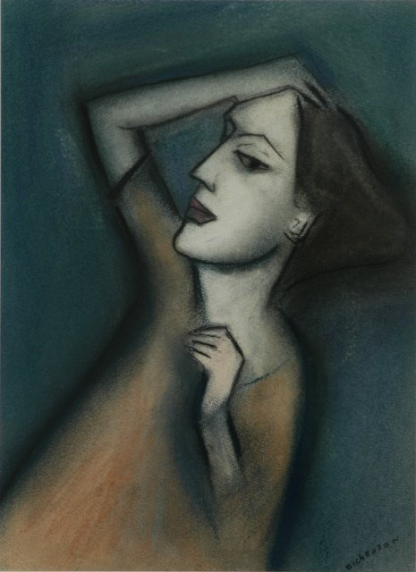 16: DICKERSON, Robert (b.1924) 'Moment of Reflection' P