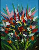 17: HART, Pro (1928-2006) Flowers, c.1994. Oil on Canva