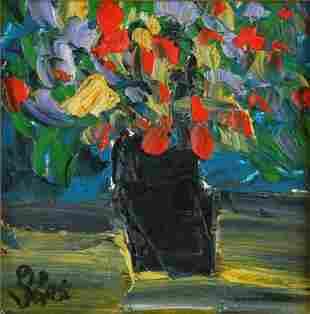 20: HART, Pro (1928-2006) Vase of Flowers Oil on Board