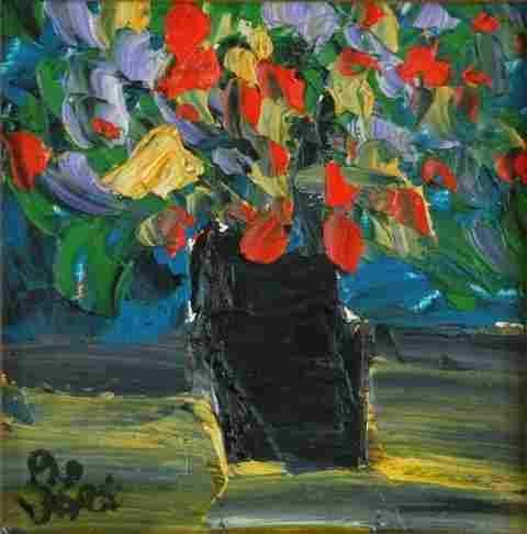 HART, Pro (1928-2006) Vase of Flowers Oil on Board