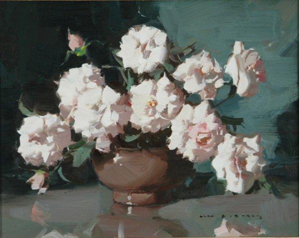 21: BAKER, Alan Douglas (1914-1987) Flowers in a Brown