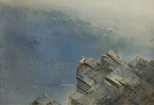 22: GARRETT, Tom (1879-1952) Lorelei on the Rocks Monot