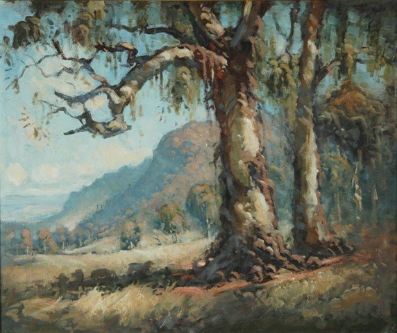 23: COPES, Dixon (b.1914) Sheep in Mountain Valley Oil