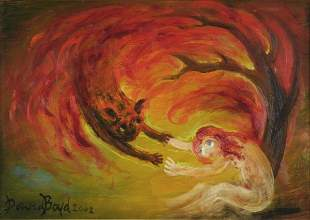 BOYD, David (b.1924) 'Embracing under the Flames'