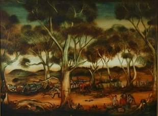 HART, Pro (1928-2006) Bush Picnic, 1965. Oil on Boa