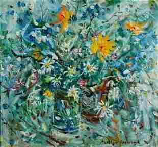 PERCEVAL, Matthew (b.1945) Still Life Oil on Canvas