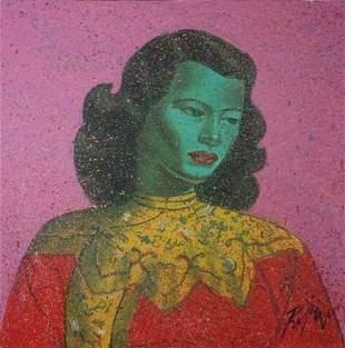 ROPAR, Dennis (b.1971) 'Homage to Tretchikoff' Acry