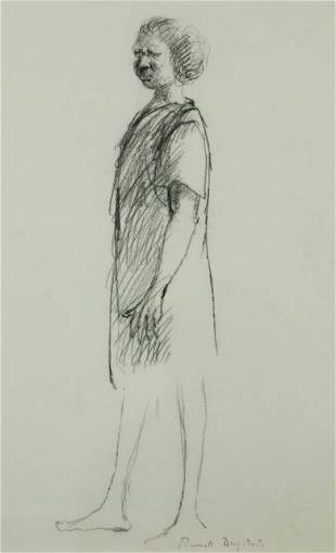 DRYSDALE, Russell (1912-1981) Standing Aboriginal W