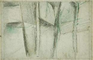 MILLER, Godfrey (1893-1964) 'Study: Trees and Mount